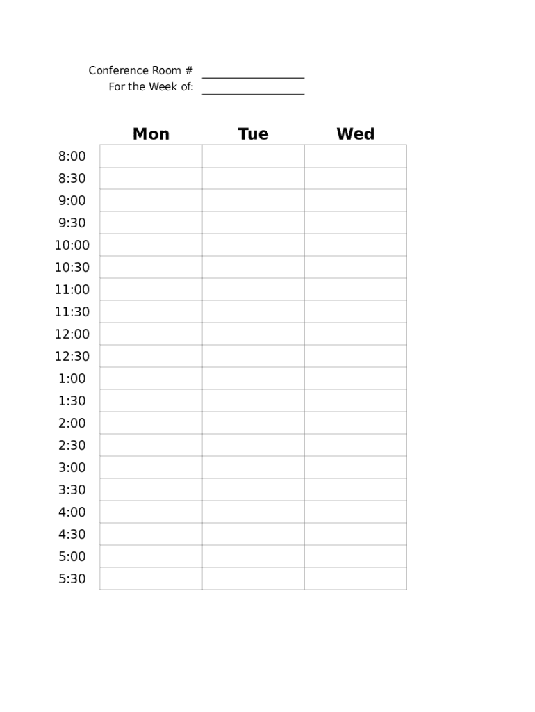 This speaker booking form template is designed for presenters to book and get a reservation for the conference. Conference Room Schedule Fill And Sign Printable Template Online Us Legal Forms