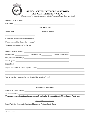 free bio template fill in blank - bio sheet template free download champlain college