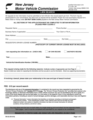 New jersey division of motor vehicles for Nj motor vehicle registration form