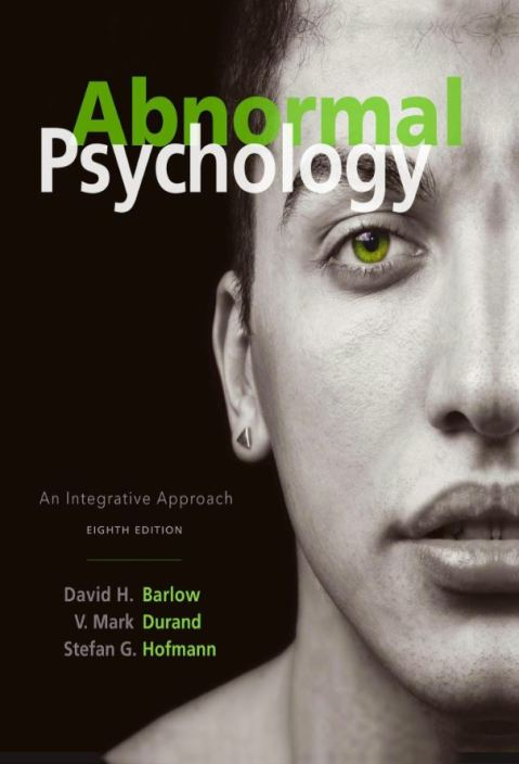 Abnormal Psychology an Integrative Approach 8th edition pdf