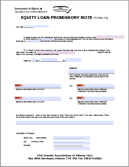 Promissory Note Template 23