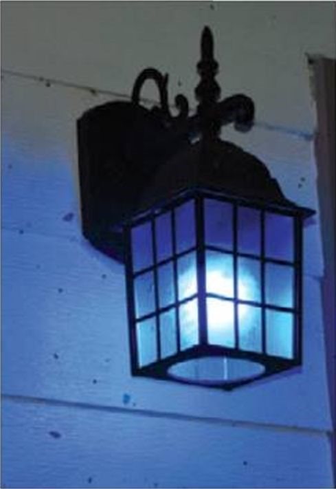 blue porch light