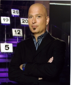 Howie Mandell trying to look hard.