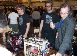 Zack Smith, Bre Pettis, and Adam Mayer of Makerbot
