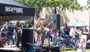 Bike powered rock music