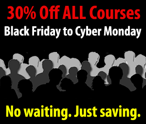 30% Off ALL CE Courses Black Friday to Cyber Monday