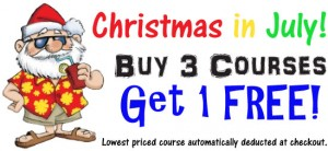 Christmas in July - Buy 3 Get 1 FREE!
