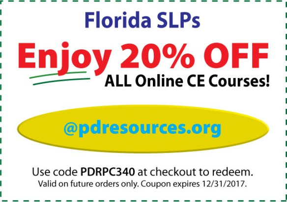 Florida SLPs Save 20% on CEUs