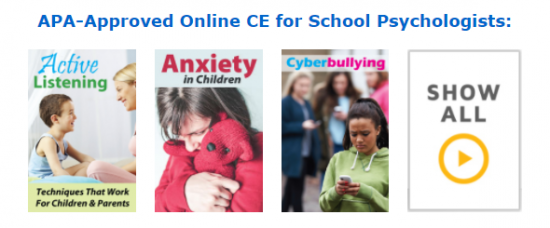 APA-Sponsored Online CE for School Psychologists