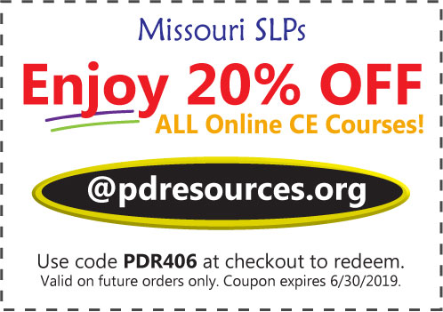 Missouri SLPs Save 20% on CEUs