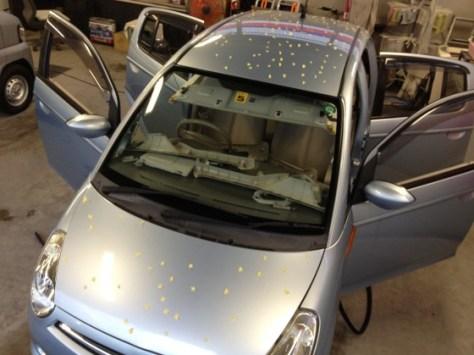 スバルR2雹害車両修理