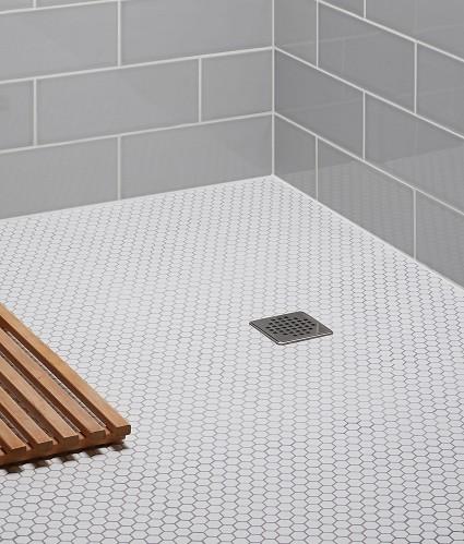 white 1 hexagon hex porcelain matte mosaic tile backsplash bathroom floor floor wall tiles flooring tiles