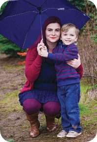 TheHardSell-Jessica_Gray_of_Hillsboro_with_son