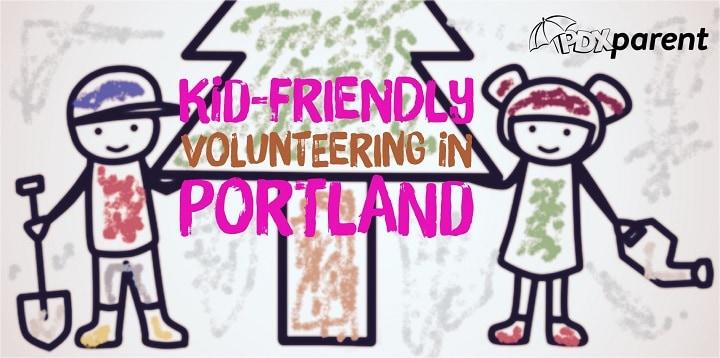 portland kid friendly volunteering