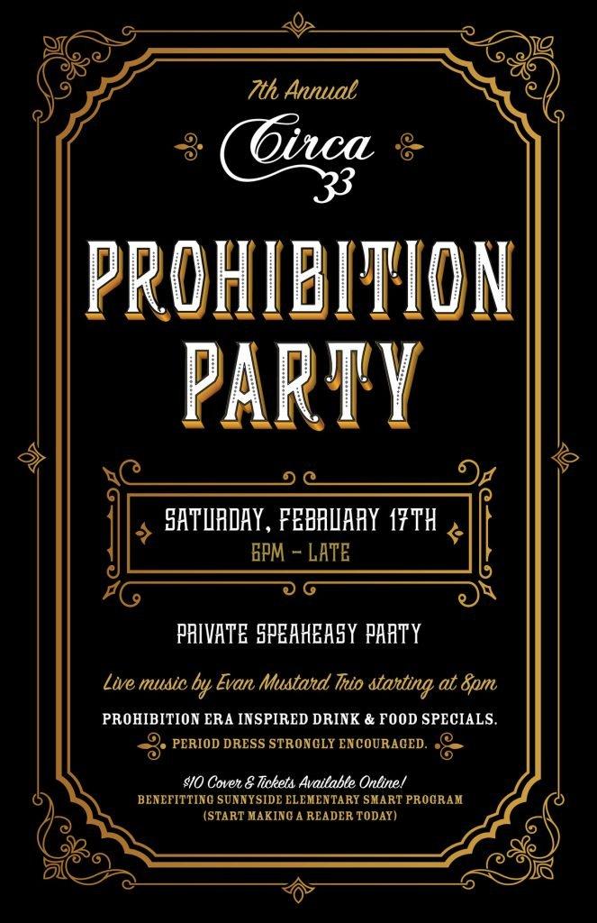 2018 Prohibition Party Circa 33 Portland Valentines