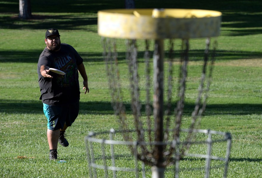 Fore  Frisbees will fly at Riverside s first disc golf course     Frisbees will fly at Riverside s first disc golf course