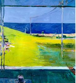 Diebenkorn oil painting