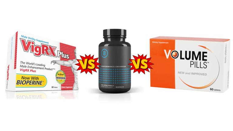 VigRX Plus vs Performer 8 vs Volume Pills Comparison Guide by PBP Staff