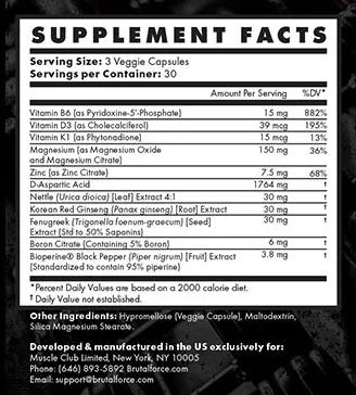 OstaBulk Ingredients