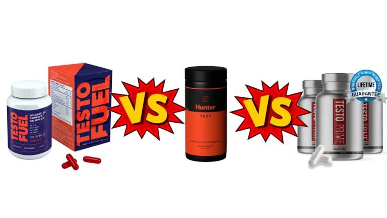 Testofuel vs Hunter Test vs Testo Prime Comparison Guide for Best Vegan T Booster