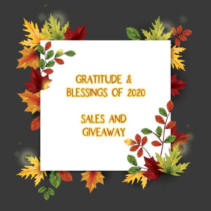 Gratitude and Blessings of 2020 Sale and Giveaway.. over 7 coupons from your favorite parent, motherhood and homeschool bloggers. Plus giveaway!!