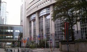The European Parliament in Brussels, Belgium.