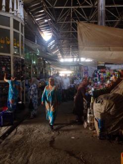 Women in the bazaar in Istaravshan, Tajikistan. Women remain heavily marginalized in Tajik society.  PC: Eddie Grove