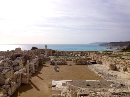 The Roman ruins of Kourion, near Limassol, Cyprus.  In September, 2014, a cruise ship rescued ~300 migrants thought to be Syrian refugees off the coast of Cyprus.  The migrants were persuaded to disembark at Limassol.
