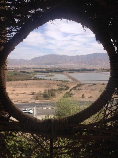 A view into the area around Aqaba, Jordan from what was once an Israeli defense post.  Today, the site is part of the Eilat Botanical Gardens.  Jordan and Israel were once enemies, but are now strategic partners.