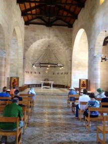 The Church of the Multiplication of the Loaves and Fishes was recently torched by Jewish extremists. PC: Eddie Grove