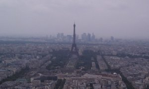 The Eiffel Tower and La Defense as seen from the Tour Montparnasse. PC: Eddie Grove