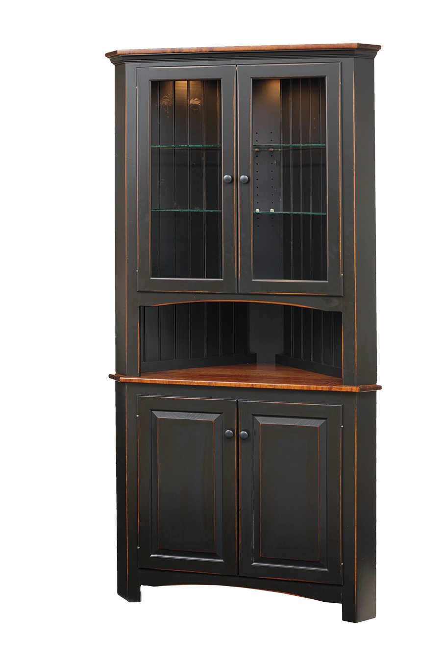 Shaker Corner Cabinet Peaceful Valley Amish Furniture