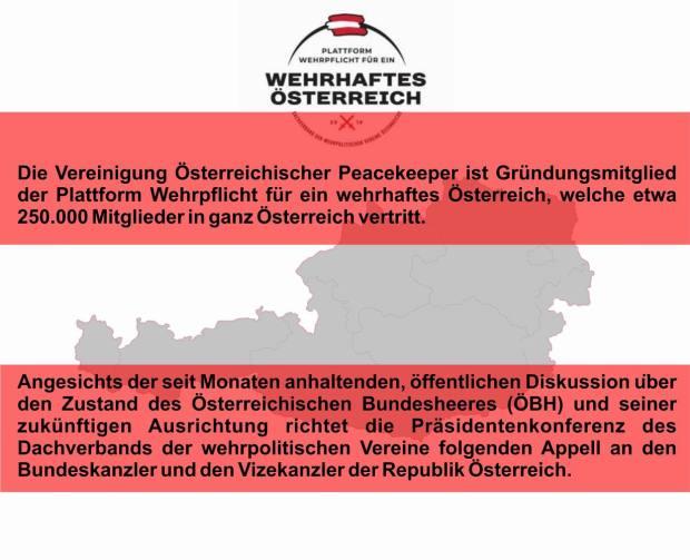 GrößenänderungAppell Wehrhaftes Österreich