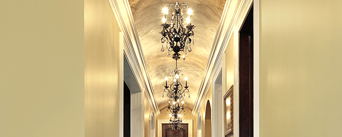 Chandeliers Should Have A Smaller Diameter We Suggest The Be Kept Under 2 Feet However Some Es Can Handle More Most Hallways Look Best