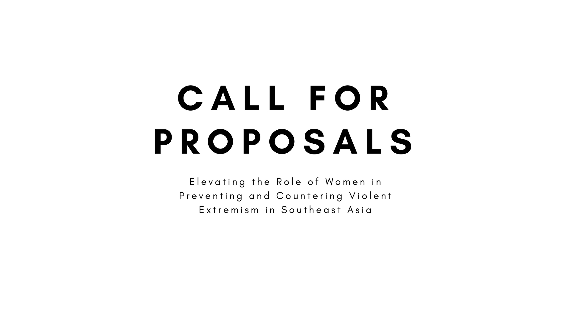 Call For Proposals Elevating The Role Of Women In