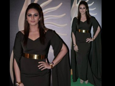 Huma Qureshi in Nikhil Thampi -IIFA Awards 2013