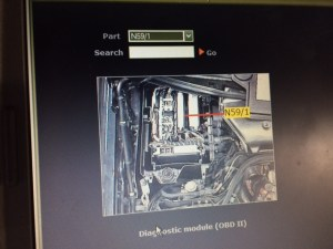Can't find the diagnostic module!!  PeachParts Mercedes