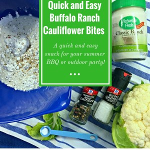 Quick and Easy Buffalo Ranch Cauliflower Bites