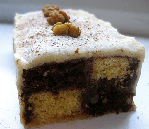 Chocolate and Vanilla Battenburg Cake