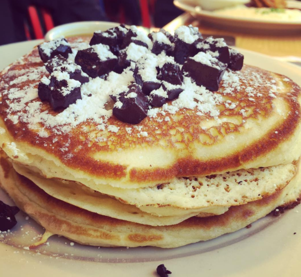 Chocolate chip pancakes at Clinton St