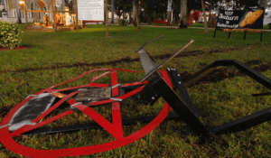 Satanic secular display in Boca Raton vandalized again