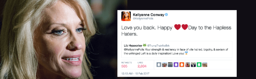 Kellyanne COnway retweeted a white nationalist