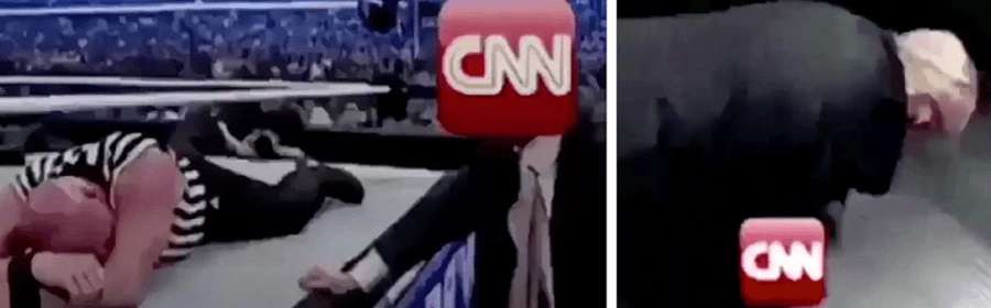 Trump Uses Fake Wrestling Clip to Incite Real Violence Against CNN