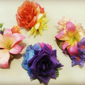 Flower clips, Fascinators and Corsage sets