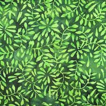 green leaves batik fabric