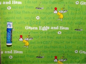 Dr. Seuss, green eggs and ham fabric