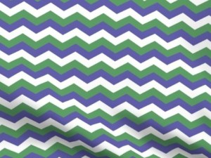 genderqueer pride flag color fabric, with alternating zigzag stripes of purple, white, and green
