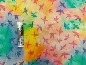 tie dye pastel birds and background