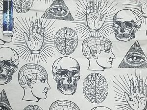 esoteric images on a gray background