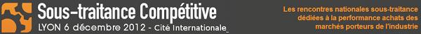 Bannière de Sous-traitance Compétitive 2012, LYON